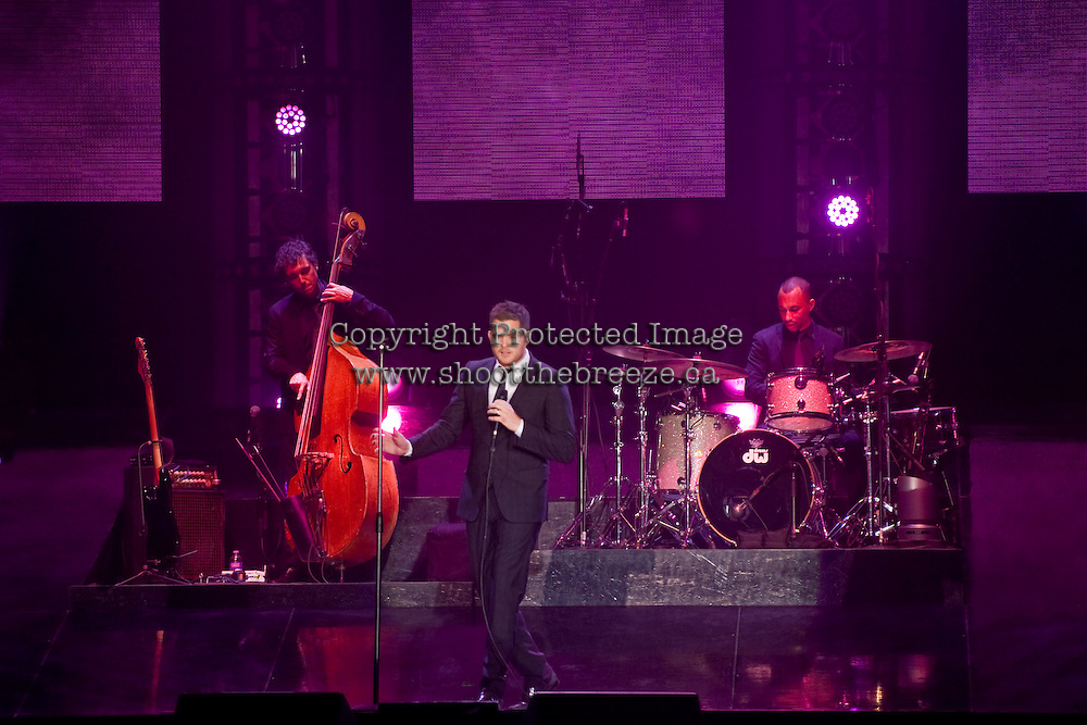 Michael Buble takes the stage after opening act, Naturally 7, as he kicks off his Crazy Love Tour in Kelowna, B.C. at Prospera Place