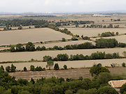 aerial view of the fields around Arles Provence in France