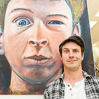 Brian Davis Art work is titled 'Portrait' which is a portrait of his sons facial expression