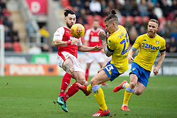 January 26, 2019 - Rotherham, England, United Kingdom - Richard Towell of Rotherham United  is fouled by Kalvin Phillips during the Sky Bet Championship match between Rotherham United and Leeds United at the New York Stadium, Rotherham, England, UK, on Saturday 26th January 2019. (Credit Image: © Mark Fletcher/NurPhoto via ZUMA Press)