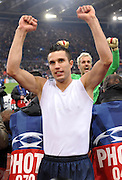 Robin Van Persie celebrates after the UEFA Champions League shoot-out, Round of Last 16, Second Leg match between AS Roma and Arsenal at the Stadio Olimpico on March 11, 2009 in Rome, Italy.