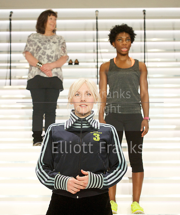 Blurred Lines<br /> created by Carrie Cracknell and Nick Payne<br /> devised by the company with poetry by Michaela Coel<br /> at The Shed, National Theatre, London, Great Britain <br /> press photocall<br /> 21st January 2014 <br /> <br /> <br /> Marion Bailey<br /> <br /> Lorna Brown <br /> <br /> Bryony Hannah <br /> <br /> Sinead Matthews<br /> <br /> Claire Skinner<br /> <br /> Susannah Wise<br /> <br /> Michaela Coel<br /> <br /> Ruth Sheen <br /> <br /> <br /> Photograph by Elliott Franks