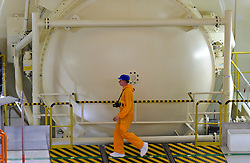 An RWE employee works in the nuclear reactor chamber, at the RWE nuclear power plant, in Lingen, Germany, on Tuesday, Sept. 6, 2011. (Photo © Jock Fistick)