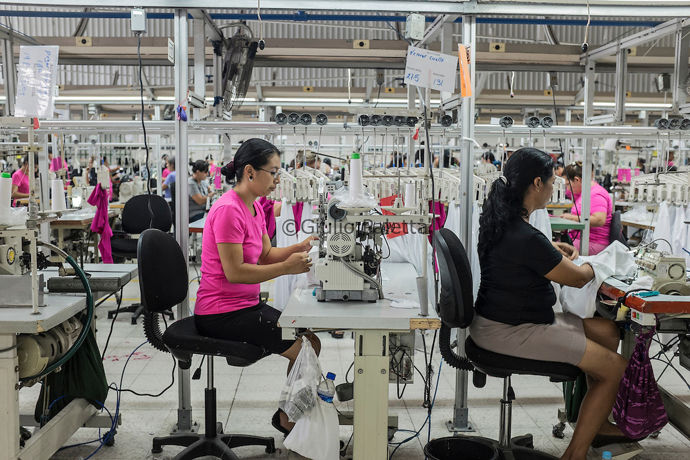 Workers inside the TexOps factory, around 40 minutes by ...