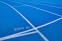 Photo of 200 meter blue running tracks