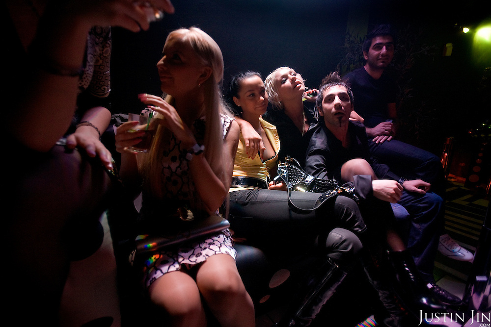 Russians party at the Rai Nightclub in Moscow