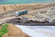 Israel, Galilee, The Hagal landfill started operation in 1999 and receives 1200 tons a day Truck bring in the collected waste
