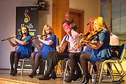The Tulla Road Ceili Band performing at the Fleadh 2016 Fáiltiú at Cois na hAbhanna, Ennis. Photograph by Eamnon Ward