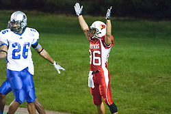 16 September 2006: Jason Horton stands and signals touchdown after catching and scoring on a pass from Luke Drone. The Eastern Illinois Panthers and The Illinois State Redbirds have a long standing rivalry. This years competition commenced at Hancock Stadium on the campus of Illinois State University in Normal Illinois.