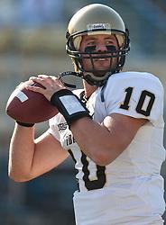 October 10, 2009; San Jose, CA, USA;  Idaho Vandals quarterback Nathan Enderle (10) before the game against the San Jose State Spartans at Spartan Stadium.  Idaho won 29-25.