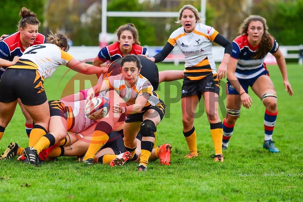 Sammy Wong of Wasps Ladies in action - Mandatory by-line: Craig Thomas/JMP - 28/10/2017 - RUGBY - Cleve RFC - Bristol, England - Bristol Ladies v Wasps Ladies - Tyrrells Premier 15s