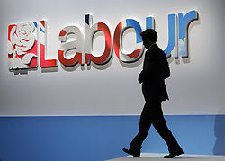 © Licensed to London News Pictures. 29/09/2011. LONDON, UK. Ed Miliband, Leader of the Labour Party leaves the stage. The Labour Party Conference in Liverpool today (29/09/11). Photo credit:  Stephen Simpson/LNP