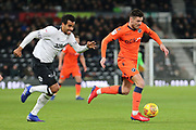 Millwall midfielder Ben Marshall runs at goal during the EFL Sky Bet Championship match between Derby County and Millwall at the Pride Park, Derby, England on 20 February 2019.