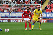 AFC Wimbledon defender Darius Charles (32) during the EFL Sky Bet League 1 match between Charlton Athletic and AFC Wimbledon at The Valley, London, England on 17 September 2016. Photo by Stuart Butcher.