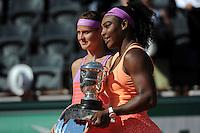 Serena WILLIAMS / Lucie SAFAROVA  - 06.06.2015 - Jour 14 - Finale Femmes - Roland Garros 2015<br /> Photo : Nolwenn Le Gouic / Icon Sport
