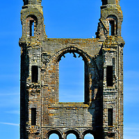 East Twin Spires at St Andrews Cathedral, Scotland<br />