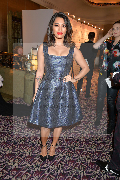 VANESSA WHITE at the WGSN Global Fashion Awards 2015 held at The Park Lane Hotel, Piccadilly, London on 14th May 2015.
