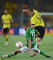 FUSSBALL   1. BUNDESLIGA   SAISON 2012/2013   1. SPIELTAG Borussia Dortmund - SV Werder Bremen                  24.08.2012      Aleksandar Ignjovski (li, SV Werder Bremen) gegen Jakub Blaszczykowski (geannt KUBA, re, Borussia Dortmund)
