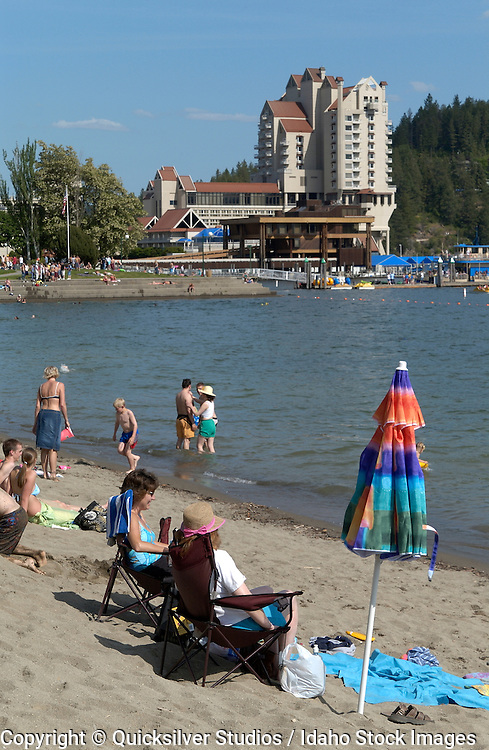 Idaho, Coeur dAlene, City Beach, Summer