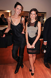 Left to right,  MARGOT STILLEYand FRANCESCA VERSACE at a party to celebrate the B.zero 1 design by Anish Kapoor held at Bulgari, 168 New Bond Street, London n 2nd June 2010.