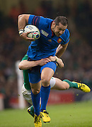 Cardiff, Wales, Great Britain, Scott SPEDDING, during the Pool D game, France vs Ireland.  2015 Rugby World Cup,  Venue, Millennium Stadium, Cardiff. Wales   Sunday  11/10/2015.   [Mandatory Credit; Peter Spurrier/Intersport-images]