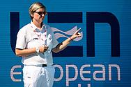 Referee<br /> ITA - CRO<br /> Italy (white caps) vs Croatia (blue caps) <br /> Barcelona 19/07/18 Piscines Bernat Picornell <br /> Women qualification<br /> 33rd LEN European Water Polo Championships - Barcelona 2018 <br /> Photo Andrea Staccioli/Deepbluemedia/Insidefoto