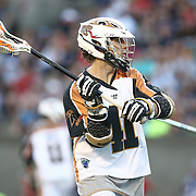 Mark Cockerton #41 of the Rochester Rattlers looks to pass the ball during the game at Harvard Stadium on August 9, 2014 in Boston, Massachusetts. (Photo by Elan Kawesch)