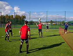 NEWPORT, WALES - Wednesday, September 24, 2014: Wales' Mitchell Clark training at Dragon Park ahead of the Under-16's International Friendly match against France. (Pic by David Rawcliffe/Propaganda)