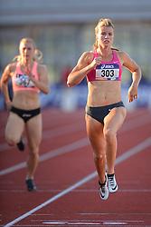 31-07-2015 NED: Asics NK Atletiek, Amsterdam<br /> Nk outdoor atletiek in het Olympische stadion Amsterdam /  Dafne Schippers wint de 3de serie halve finale op de 100 meter