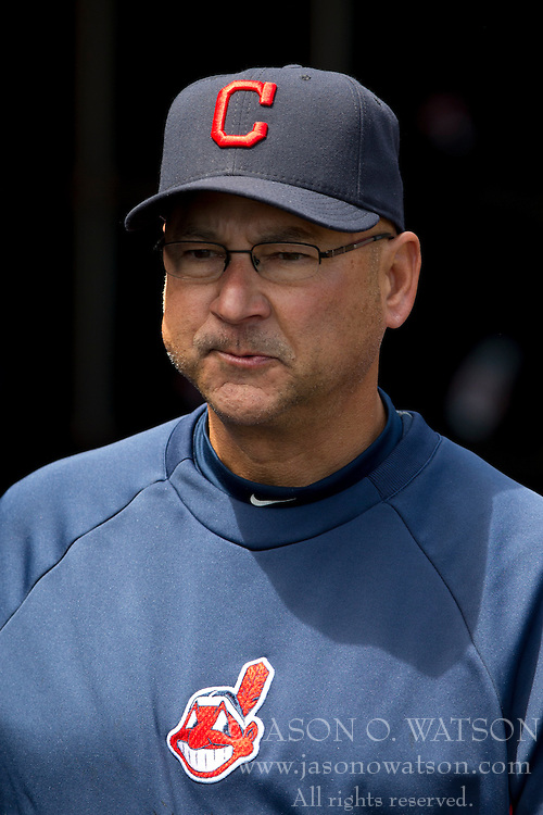 SAN FRANCISCO, CA - APRIL 26:  Terry Francona #17 of the Cleveland Indians stands in the dugout before the game against the San Francisco Giants at AT&T Park on April 26, 2014 in San Francisco, California. The San Francisco Giants defeated the Cleveland Indians 5-3.  (Photo by Jason O. Watson/Getty Images) *** Local Caption *** Terry Francona