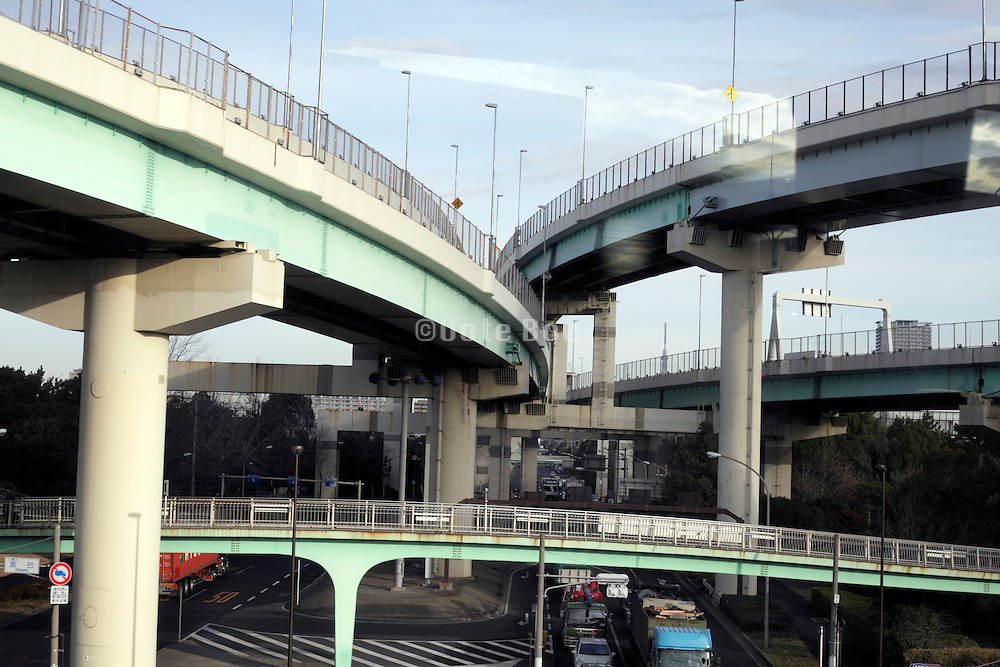 highways and other roads on various levels Japan