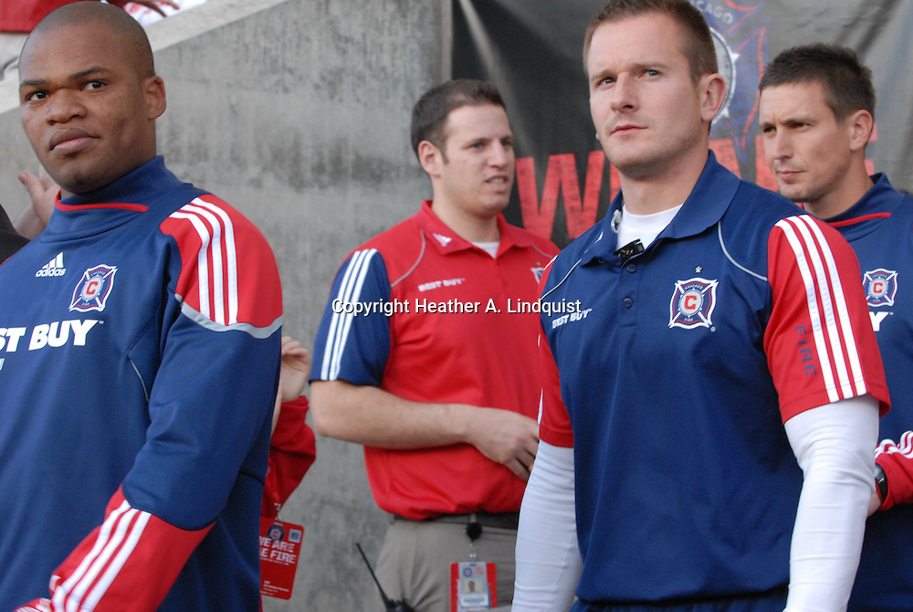 19 May 2010 - Bridgeview, IL -Toyota Park..Chicago Sister Cities International Cup:.Paris Saint-Germain vs. Chicago Fire..Chicago Fire Team heads out to the field..Photo Credit: HEATHER A. LINDQUIST/SIPA©....