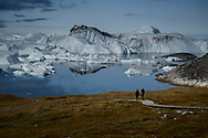 "Here is a description of Ilulissat Icefjord from UNESCO World Heritage List:<br /> ""Located on the west coast of Greenland, 250 km north of the Arctic Circle, Greenland's Ilulissat Icefjord (40,240 ha) is the sea mouth of Sermeq Kujalleq, one of the few glaciers through which the Greenland ice cap reaches the sea. Sermeq Kujalleq is one of the fastest (19 m per day) and most active glaciers in the world. It annually calves over 35 km3 of ice, i.e. 10% of the production of all Greenland calf ice and more than any other glacier outside Antarctica. Studied for over 250 years, it has helped to develop our understanding of climate change and icecap glaciology. The combination of a huge ice-sheet and the dramatic sounds of a fast-moving glacial ice-stream calving into a fjord covered by icebergs makes for a dramatic and awe-inspiring natural phenomenon."""