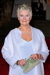 Oct. 23, 2012 - London, England - .October 23 2012, London....Judi Dench at the World premiere of 'Skyfall' held at the Royal Albert Hall on October 23 2012 in London.... (Credit Image: © Famous/Ace Pictures/ZUMAPRESS.com)