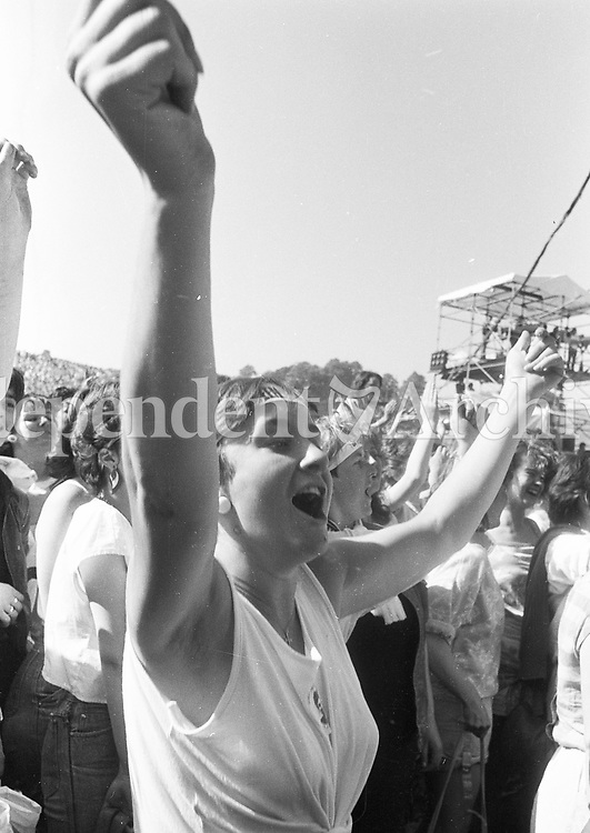Bruce Springsteen concert at Slane Castle June 1985.<br /> (Part of the Independent Newspapers Ireland/NLI collection.)