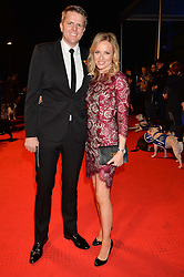 JAKE HUMPHREY and his wife HARRIET at Battersea Dogs & Cats Home's Collars & Coats Gala Ball held at Battersea Evolution, Battersea Park, London on30th October 2014.