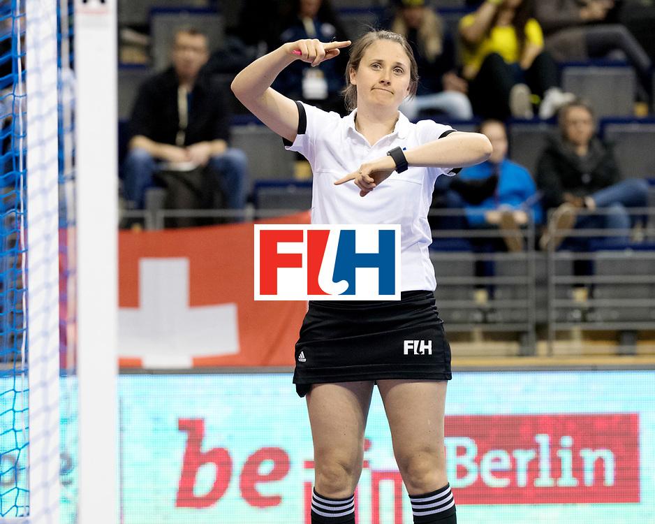 BERLIN - Indoor Hockey World Cup<br /> Women: Poland - USA<br /> foto: BAGDANSKIENE Vilma.<br /> WORLDSPORTPICS COPYRIGHT FRANK UIJLENBROEK