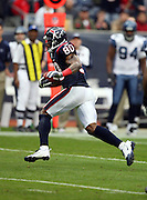 Houston Texans wide receiver Andre Johnson (80) runs a first quarter reverse for a first down during the NFL football game against the Seattle Seahawks on December 13, 2009 in Houston, Texas. The Texans won the game 34-7. ©Paul Anthony Spinelli