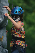 Childrens rock climbing wall