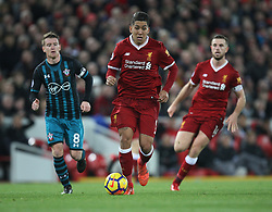 Roberto Firmino (C) of Liverpool in action - Mandatory by-line: Jack Phillips/JMP - 18/11/2017 - FOOTBALL - Anfield - Liverpool, England - Liverpool v Southampton - English Premier League