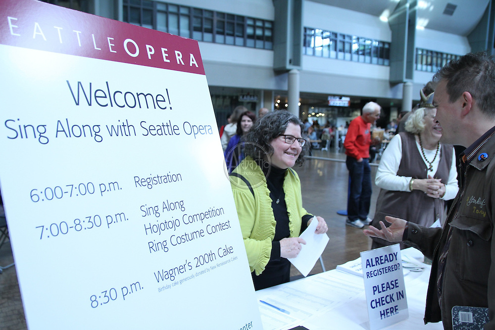 Seattle Opera kicks off the Ring on Wagner's 200th Birthday with a Sing Along, Ring costume contest and a Hojotoho competition.
