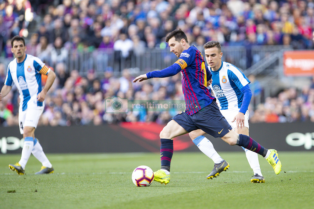 March 30, 2019 - Barcelona, Catalonia, Spain - FC Barcelona forward Lionel Messi (10) during the match FC Barcelona v RCD Espanyol, for the round 29 of La Liga played at Camp Nou  on 30th March 2019 in Barcelona, Spain. (Credit Image: © Mikel Trigueros/NurPhoto via ZUMA Press)