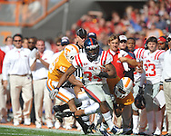 Ole Miss running back Brandon Bolden (34) runs in a college football game at Neyland Stadium in Knoxville, Tenn. on Saturday, November 13, 2010. Tennessee won 52-14.