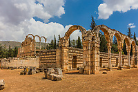 Ruins of the Umayyad Aanjar (Anjar) in Beeka valley Lebanon Middle east