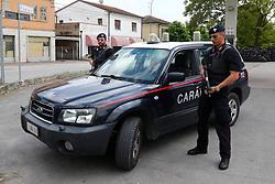 POSTO DI BLOCCO CARABINIERI IN CENTRO A BANDO<br /> RICERCHE IGOR VACLAVIC DOPO OMICIDIO VERRI