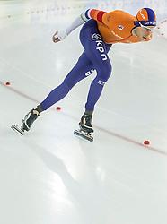 11-12-2016 NED: ISU World Cup Speed Skating, Heerenveen<br /> Jorrit Bergsma in wint de 10.000 meter tijdens het World Cup Schaatsen in Thialf in