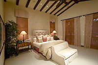 Interior of bedroom of luxury villa