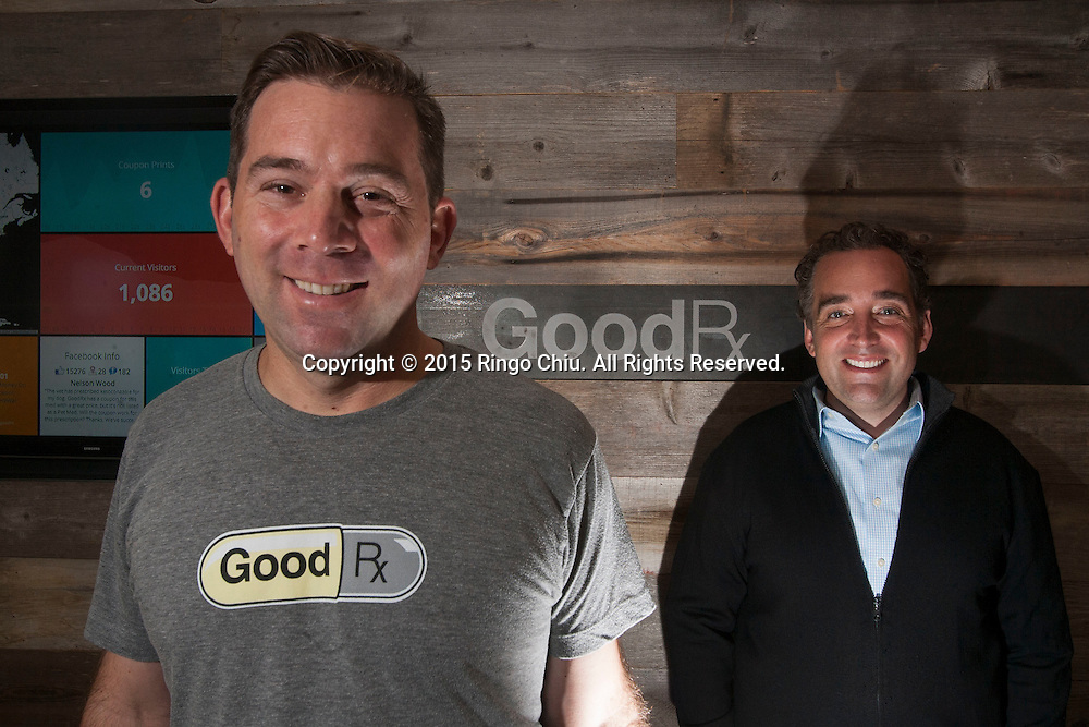Doug Hirsch, left, co-CEO, GoodRx Inc. and co-CEO Trevor Bezdek. (Photo by Ringo Chiu)