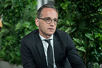 15 MAY 2019, BERLIN/GERMANY:<br /> Heiko Maas, SPD, Bundesaussenminister, waehrend einem Interview, Restaurant des Deutschen Bundestages, Reichstagsgebaeude<br /> IMAGE: 20190515-01-019
