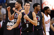 PHOENIX, AZ - APRIL 13:  Pablo Prigioni #9 of the Los Angeles Clippers reacts to a call made in the first half of the NBA game against the Phoenix Suns at Talking Stick Resort Arena on April 13, 2016 in Phoenix, Arizona.  The Phoenix Suns won 114-105. NOTE TO USER: User expressly acknowledges and agrees that, by downloading and or using this photograph, User is consenting to the terms and conditions of the Getty Images License Agreement. (Photo by Jennifer Stewart/Getty Images)